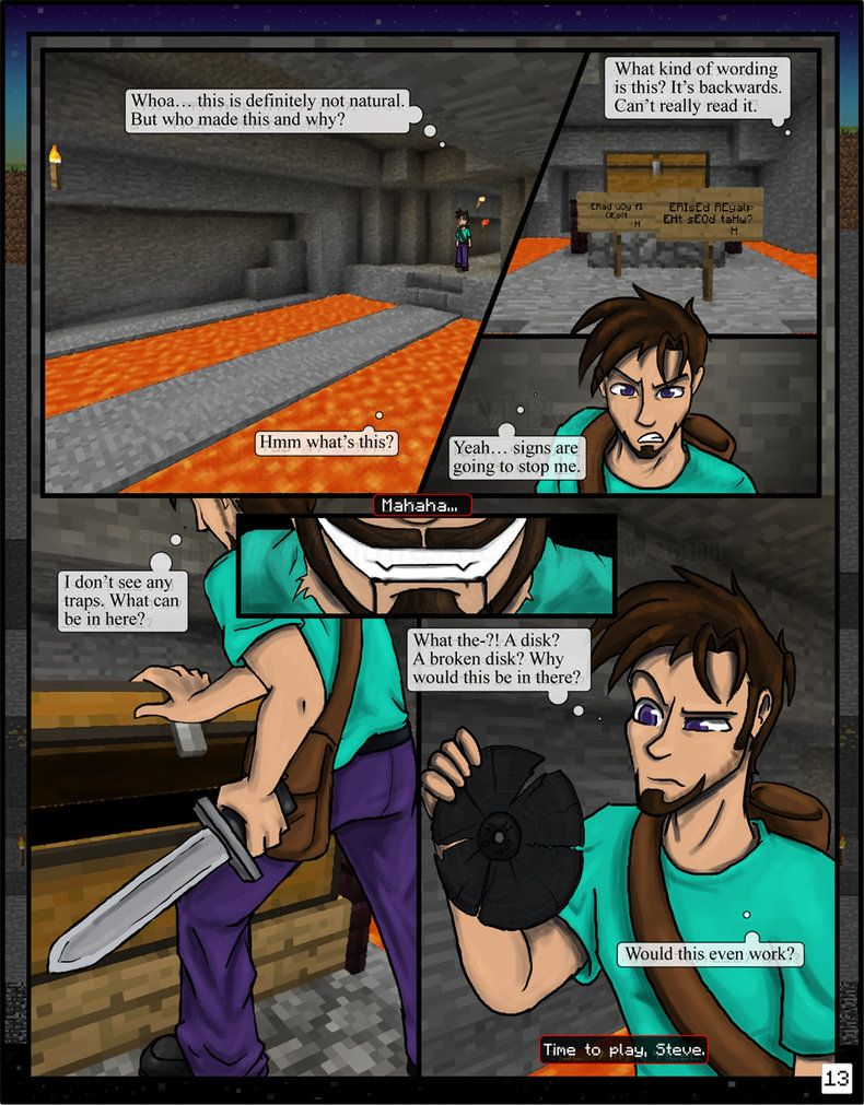 minecraft the awakening pg13 by tomboy comics on deviantart the