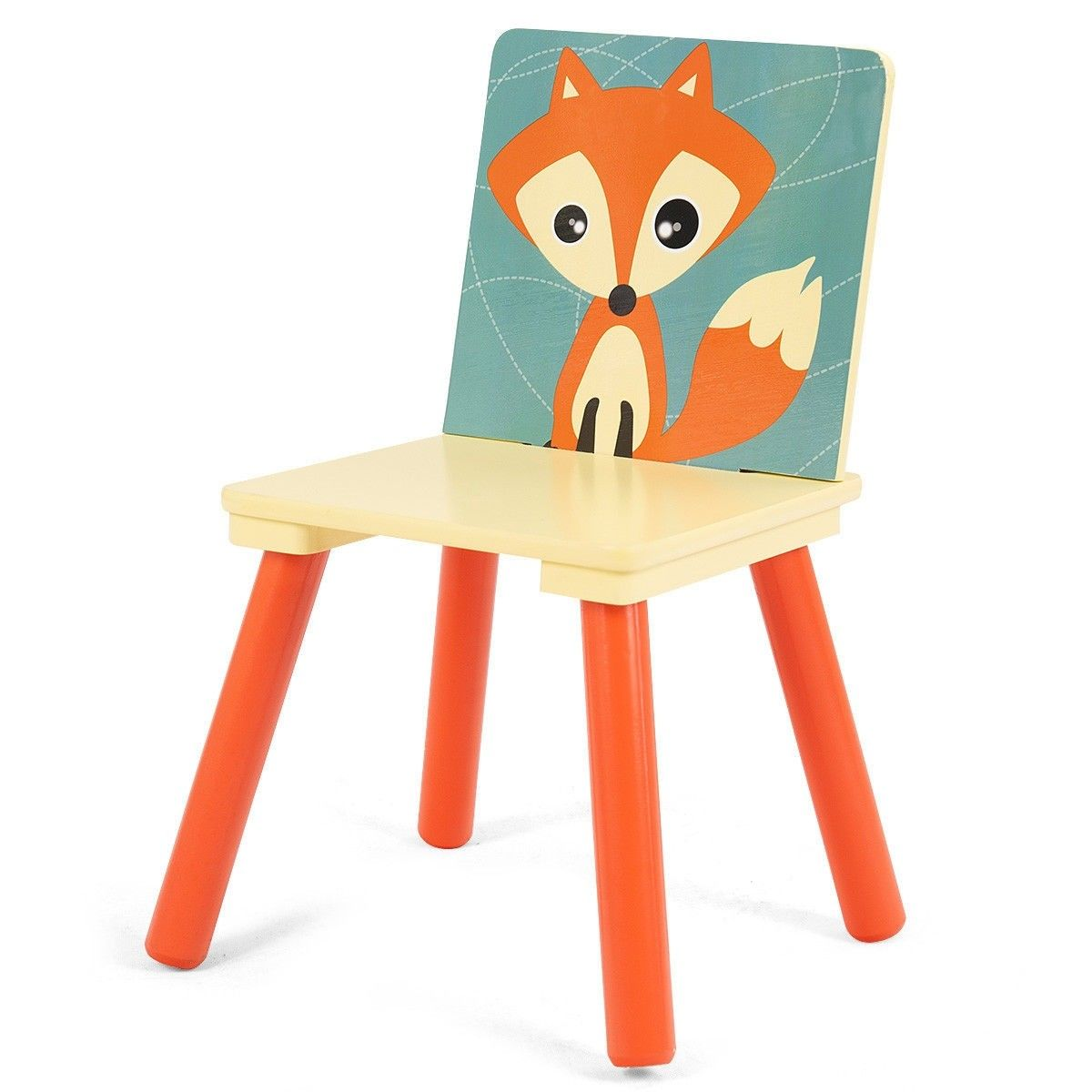 Wooden Cartoon Kids Table Chairs Set Of 2 Activity Table Desk Sets For Playing With Cartoon Pattern Material Mdf Kid Table Kids Table Chair Set Kids Furniture
