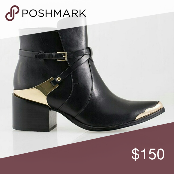 Rachel Zoe Prestyn Booties Gorgeous black with gold hardware Prestyn Booties by Rachel Zoe, size 5.5 ( can work for a small six). In very good pre-owned condition. Pics of boots coming soon! Rachel Zoe Shoes Ankle Boots & Booties
