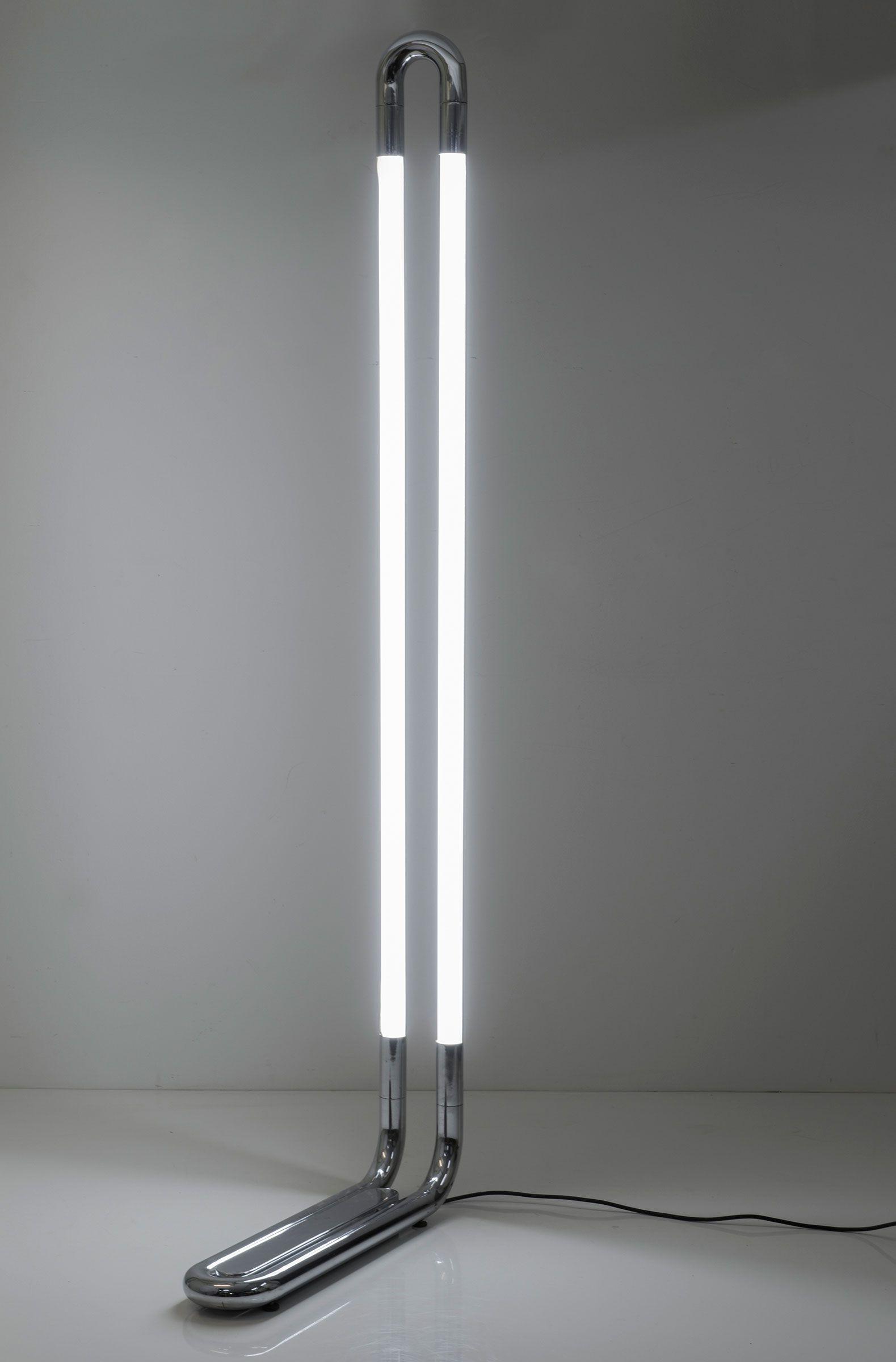 Aldo Van Den Nieuwelaar Chromed Metal Tc4 Floor Lamp For Domani