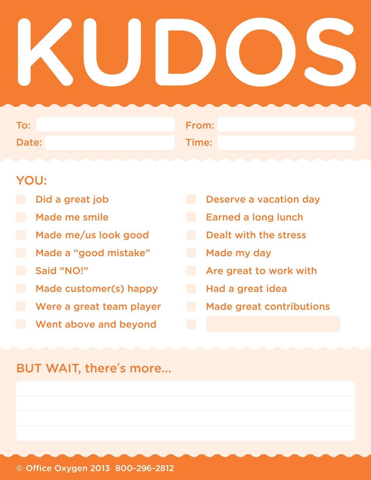office motivation ideas. Kudos For Work - Set Of 10 Note Pads (Orange)-Trainers Warehouse Office Motivation Ideas E