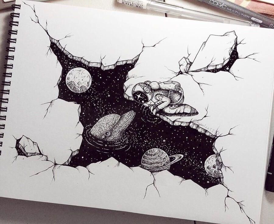 Ink Drawings.