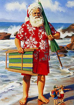 Santa on  the Beach! #holidaysinjuly
