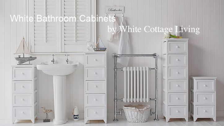 White Bathroom Cabinets By Cottage Living Furniture And Accessories