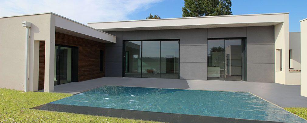 Maison contemporaine d\'architecte béton bois composite à Albi ...