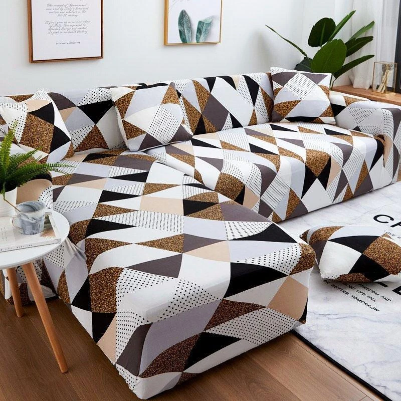 Skandinavsky Hnedy Vysuvny Potah Pro Rohovou Pohovku Kingodeco In 2020 Corner Sofa Covers Sectional Couch Cover Couch Covers