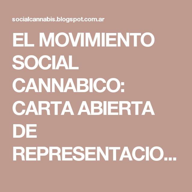 EL MOVIMIENTO SOCIAL CANNABICO: CARTA ABIERTA DE REPRESENTACION CANNABICA NAVARRA