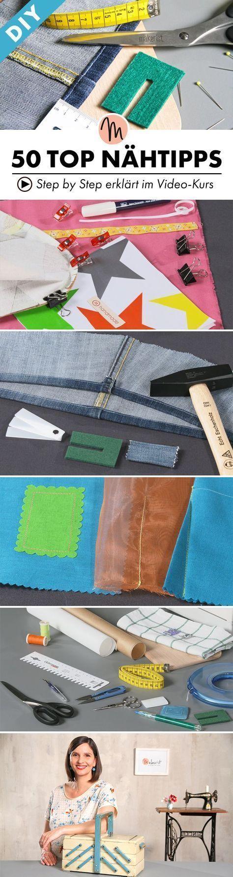 50 astuces de couture indispensables: c'est ainsi que chaque projet réussit!   – Nähen    Schnittmuster, Stoffe, Tipps, Inspiration