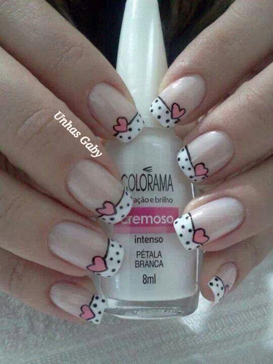 Uñas decoradas | Manicure, Silver nail designs and Nail color designs