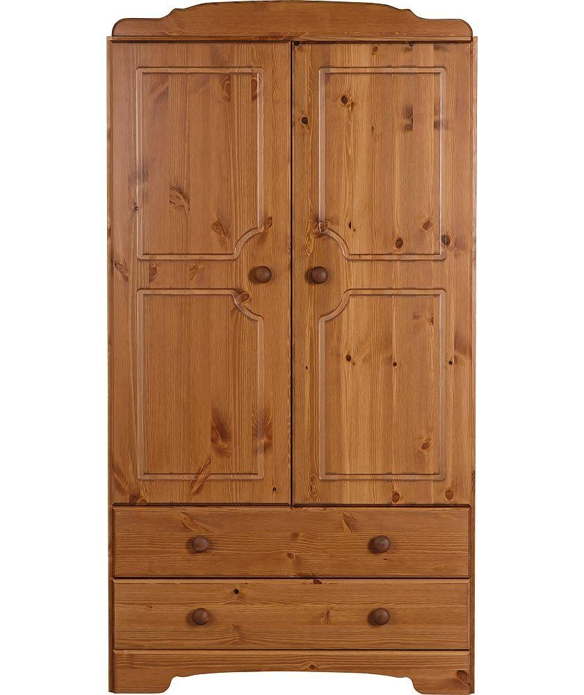 Buy Argos Home Nordic 2 Door 2 Drawer Short Wardrobe Pine Wardrobes Argos Pine Wardrobe Argos Home Dark Bedroom Furniture
