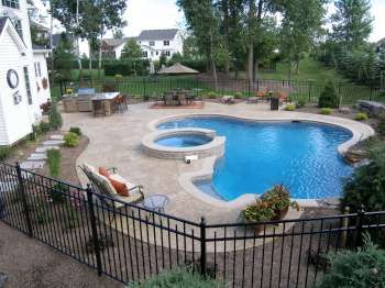 Custom gunite pool with spillover spa gunite swimming pools pinterest gunite pool spas Northeastern swimming pool distributors inc