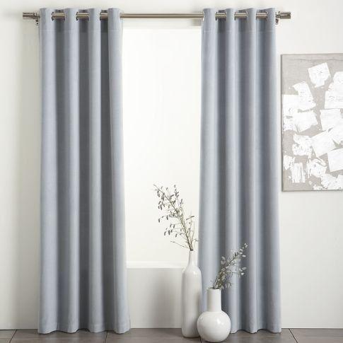 Light Blue Grey Velvet Curtain By Allisonn Blue Curtains Living