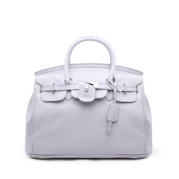 Stylish Platinum PU Leather Messenger Handbag