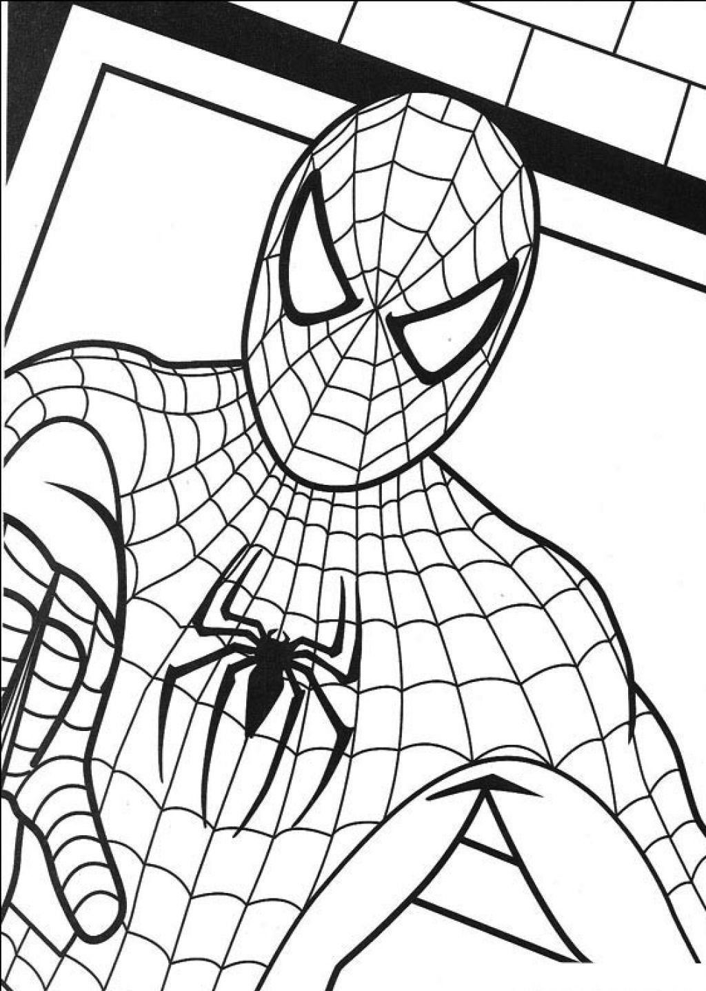 kids coloring pages spiderman | Free Printable Spiderman Coloring Pages For Kids ...