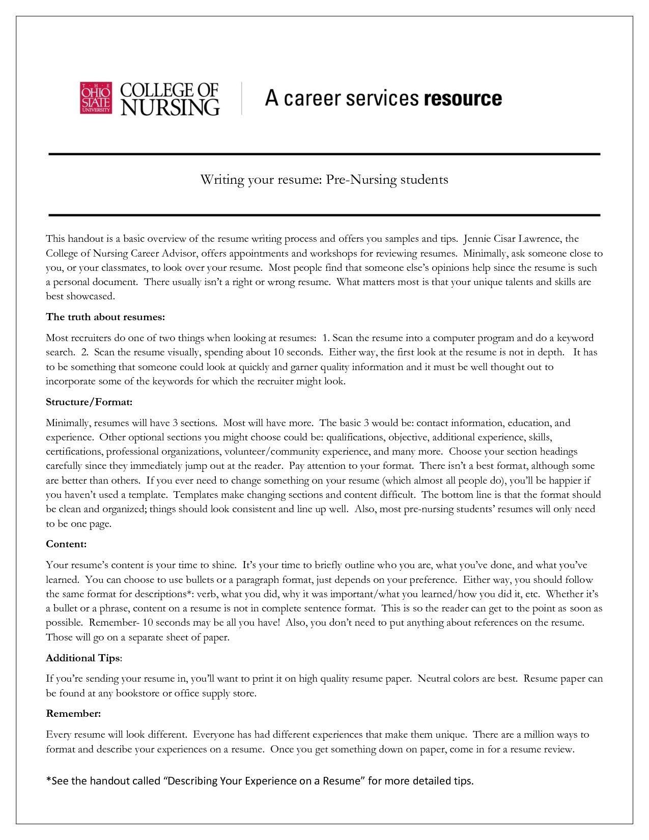 Nursing Student Resume Nursing Student Resume Nursing Student Resume ...
