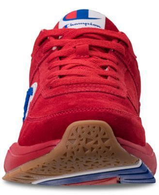 0607b39be Champion Men s 93Eighteen Suede Chenille Athletic Training Sneakers from  Finish Line - Red 10.5