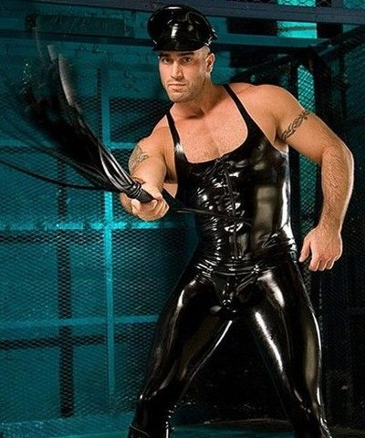 Charming topic latex bodybuidler suit