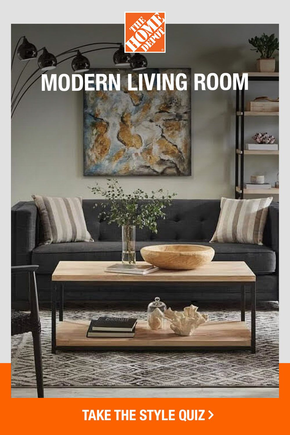 Learn How To Master A Modern Living Room With The Home Depot Style Quiz.   Living Room Modern, Decorating A New Home, Modern Living Room