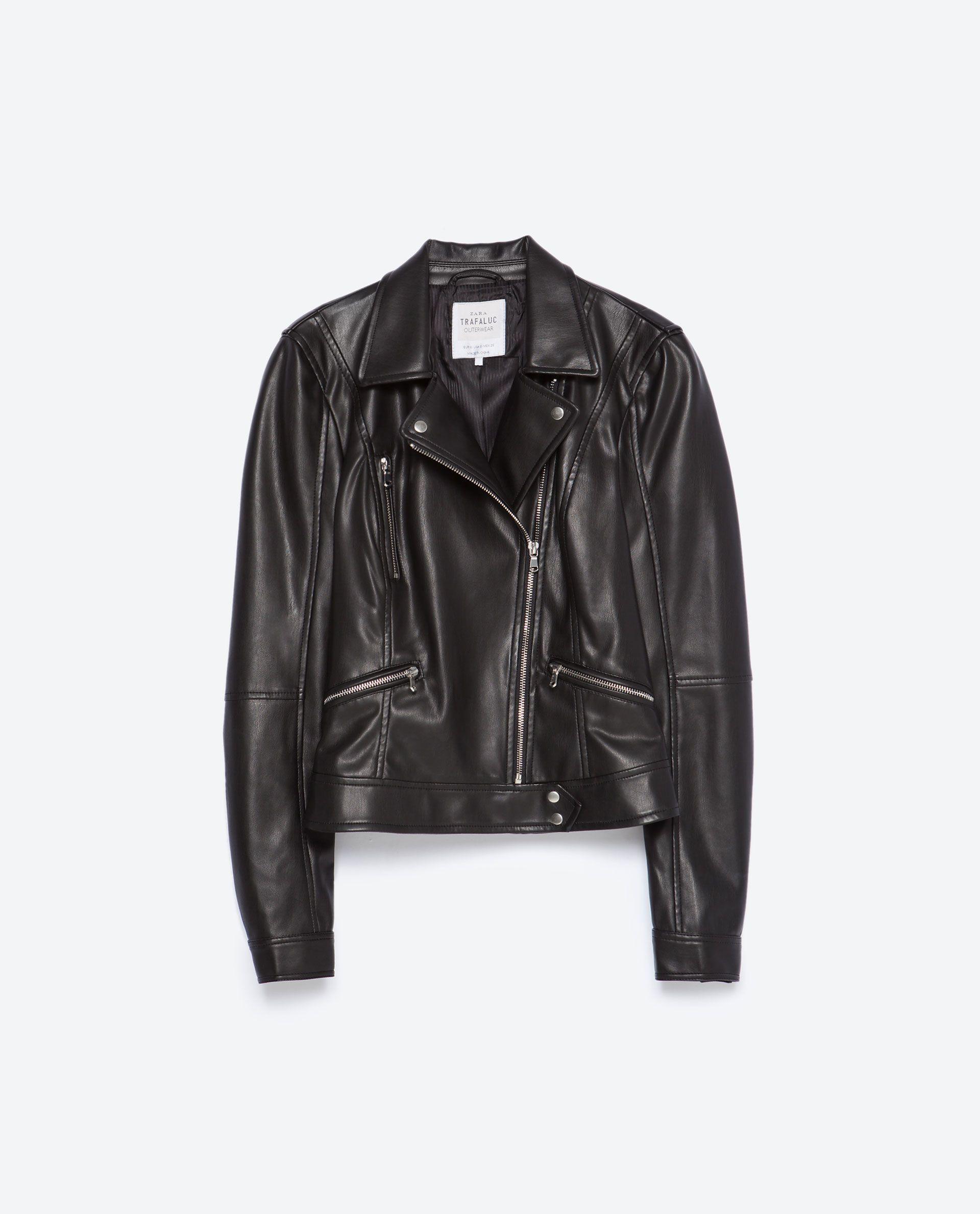 27ea9a12 Image 8 of FAUX LEATHER BIKER JACKET from Zara | Fashion | Outerwear ...