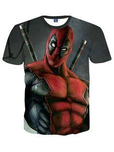 Camiseta de algodón de dibujos animados carácter multicolor camiseta  estampada para hombre 81c1df3594598