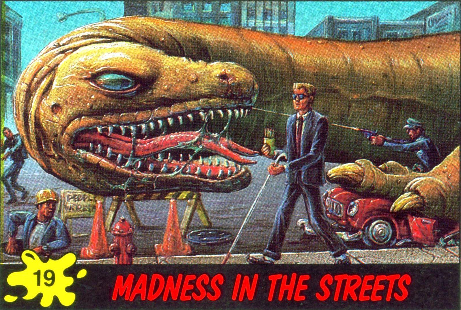 Dinosaurs attack trading cards dinosaur art sf art