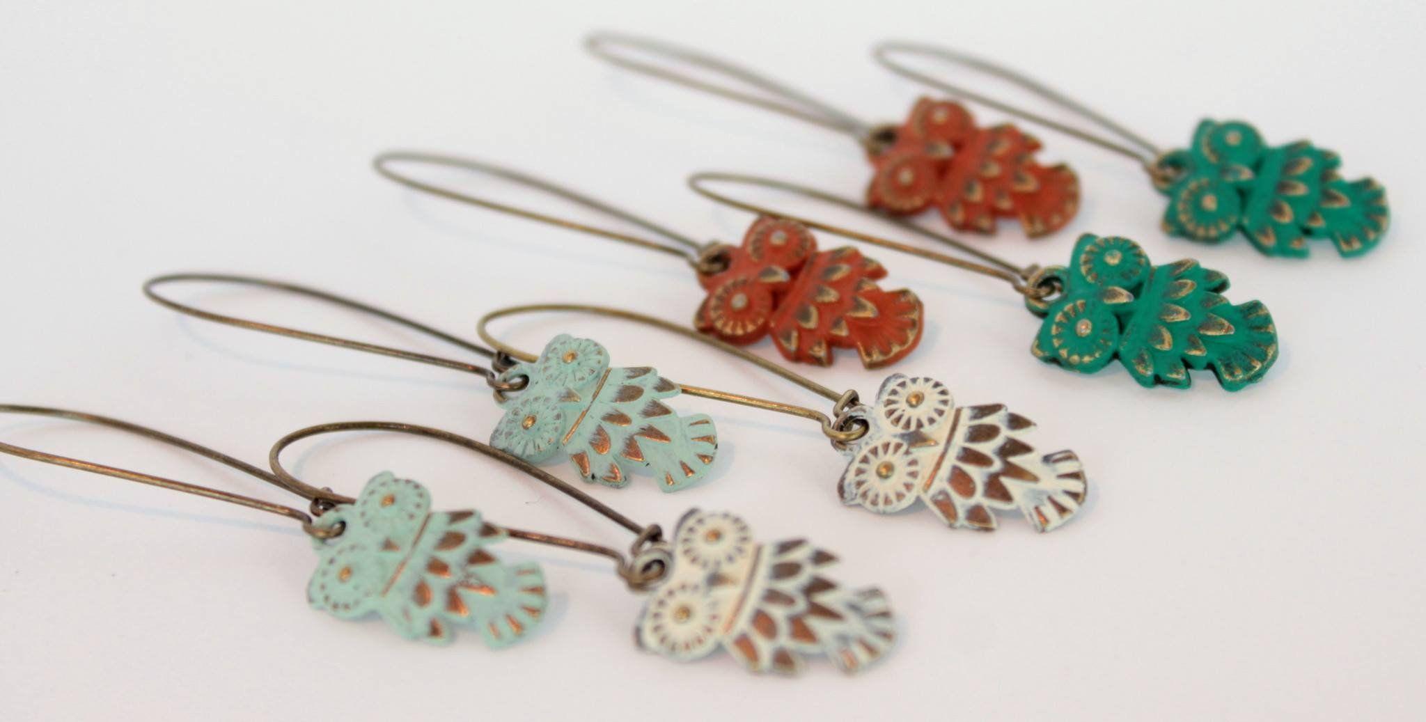 Hoot Owl Charm Earrings