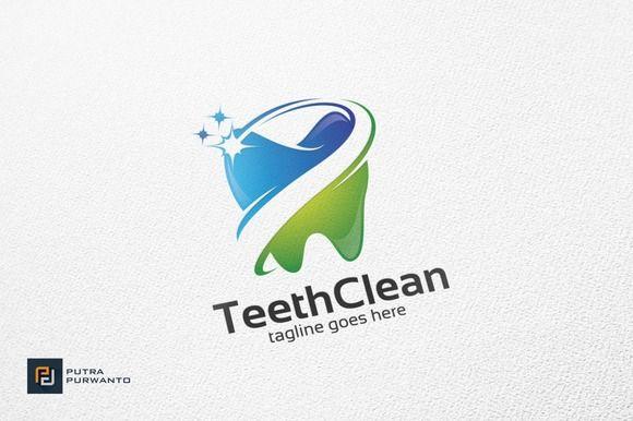 Teeth Clean / Dental - Logo Template by putra_purwanto on @creativemarket