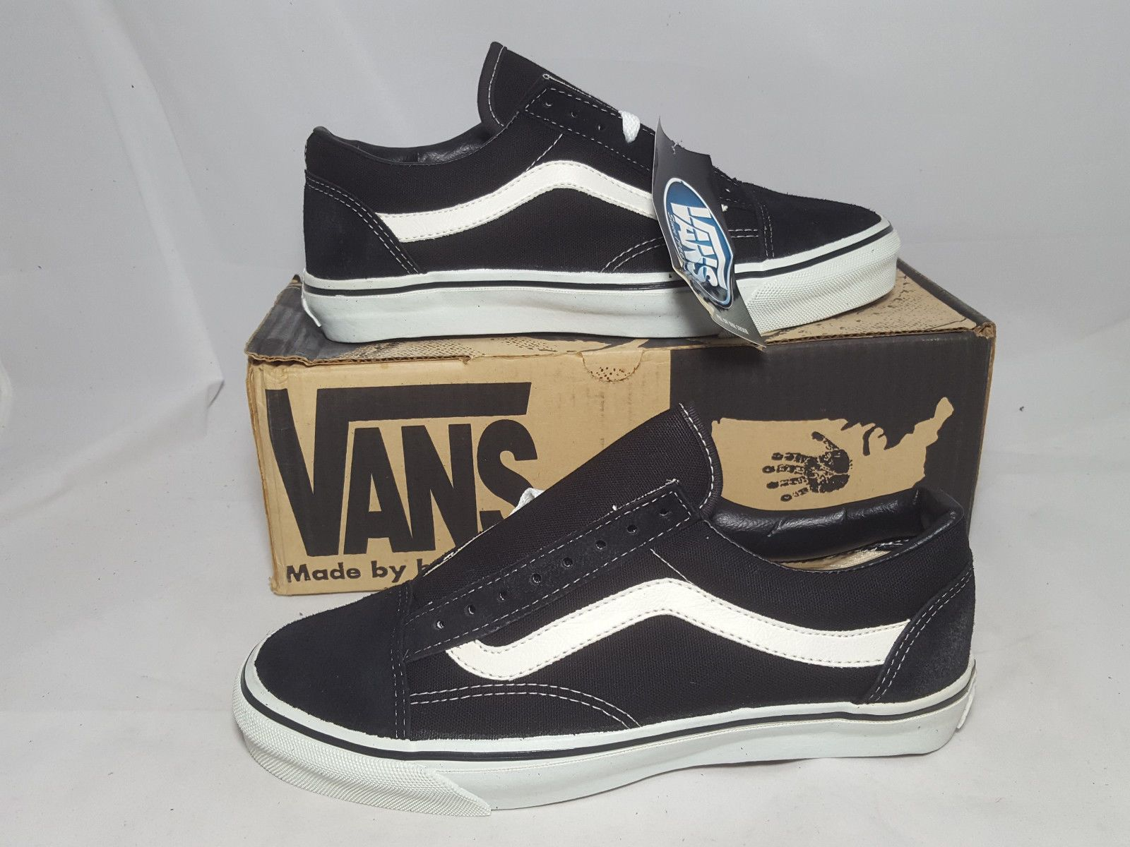 2d408458d660 Vintage Vans OLD SKOOL BLACK made in USA Men s Size 9.5 NOS SK8 HI BMX skate