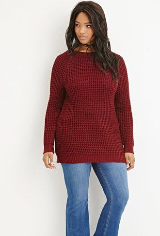 Plus Size Chunky Knit Sweater Forever 21 Plus 2000156618
