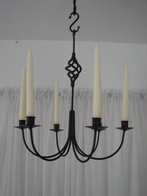 Wrought Iron Chandeliers And Hanging Candle Holders Candoliers