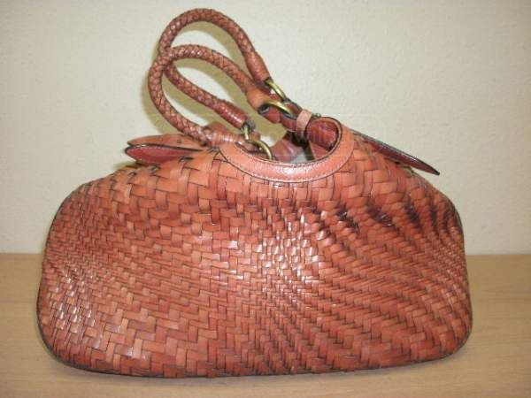 shopgoodwill.com: Fabulous Cole Haan Woven Texture Cinch Bag