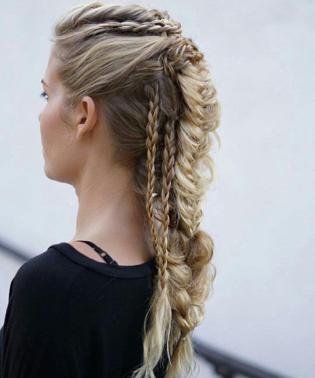 Warrior Braids Tribal Hair Viking Hair Cool Hairstyles