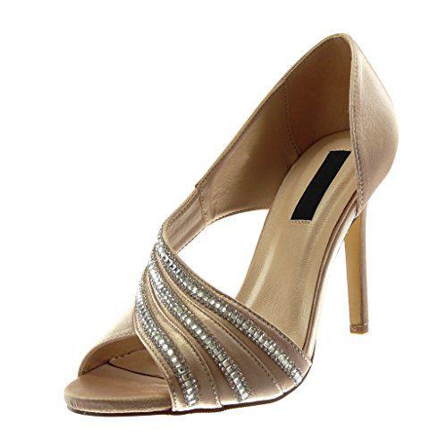 Chaussure Toe Escarpin On Femme Mode Peep Slip Stiletto Angkorly dWBwgqSd