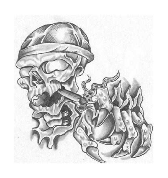 Skulls And Smoke Tattoo Designs Pin aztec smoking skull ...
