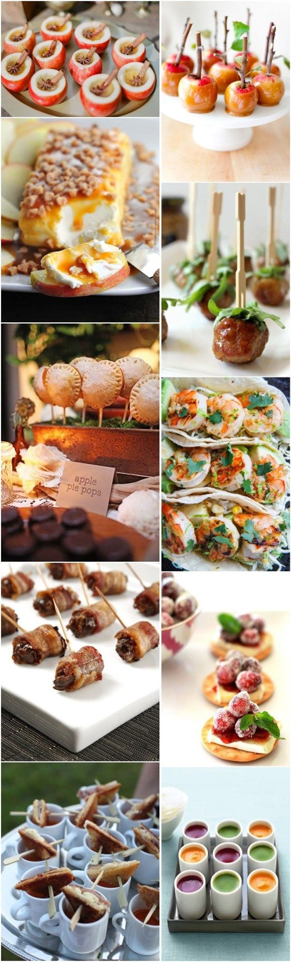 Fall Wedding Food Ideas Etizers