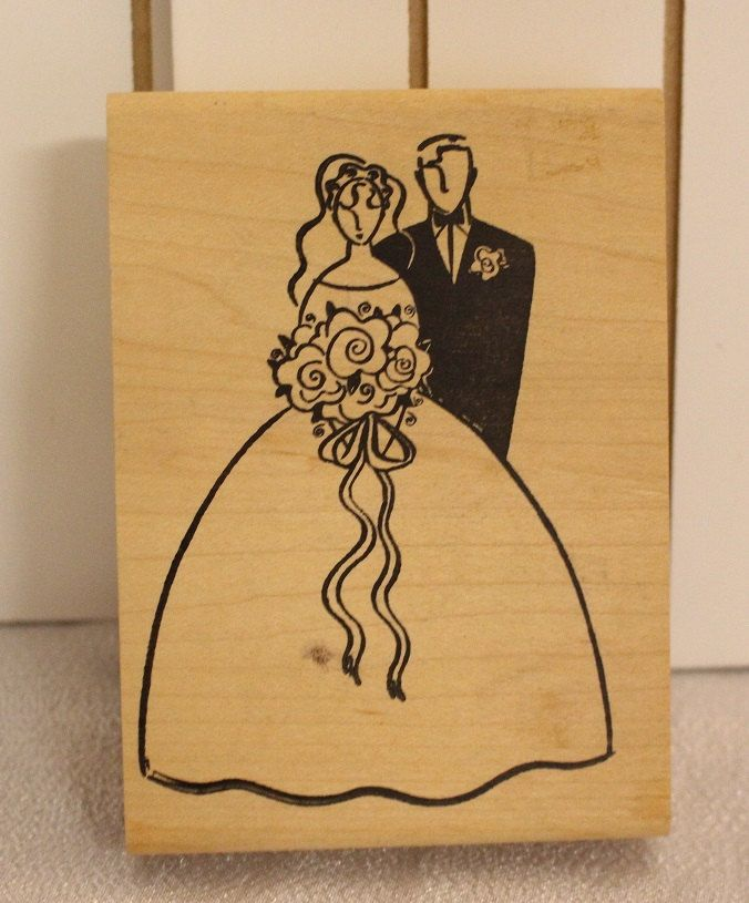 Wedding Rubber Stamping.Bride And Groom Stamp Wedding Rubber Stamp Vintage Rubber Stamp