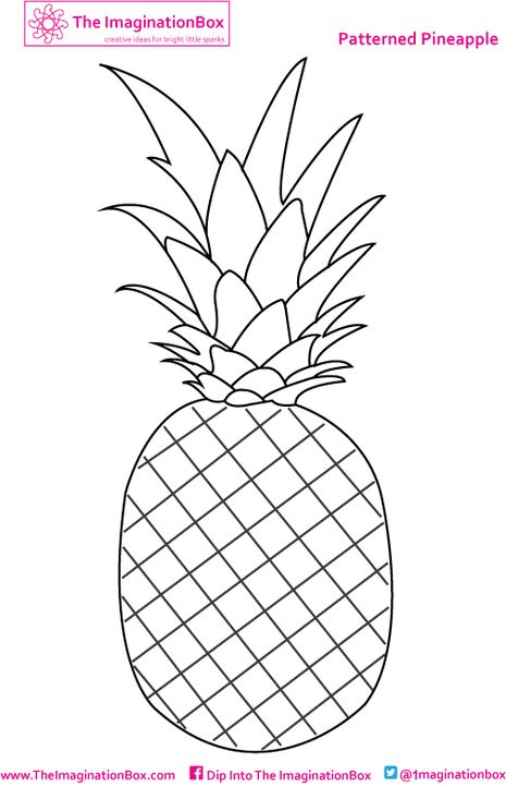 A patterned pineapples to fill with color! Free to