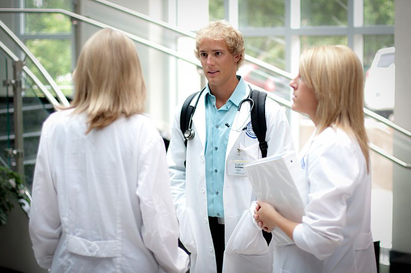 BryanLGH College of Health Sciences Students standing in