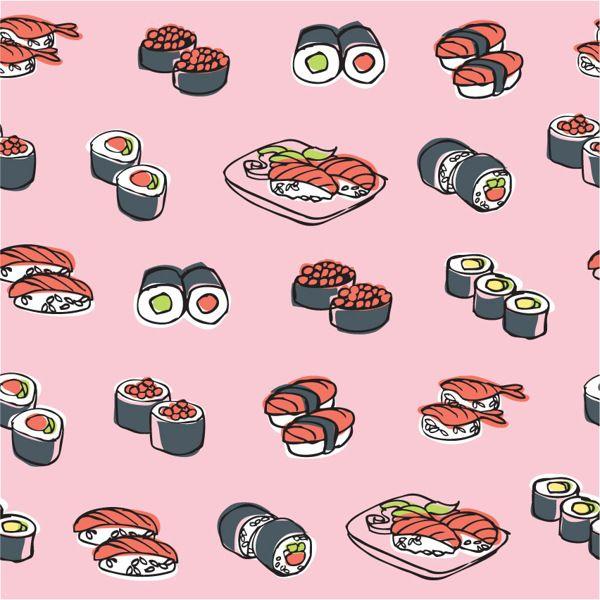 Oriental Food Chinese Japanese By Ohn Mar Win Via Behance Oriental Food Food Wallpaper Food Patterns