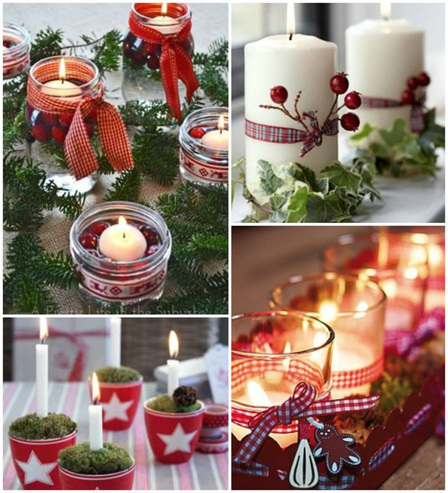 Decoracion con velas velas pinterest christmas xmas and christmas decorations - Decoracion con velas ...