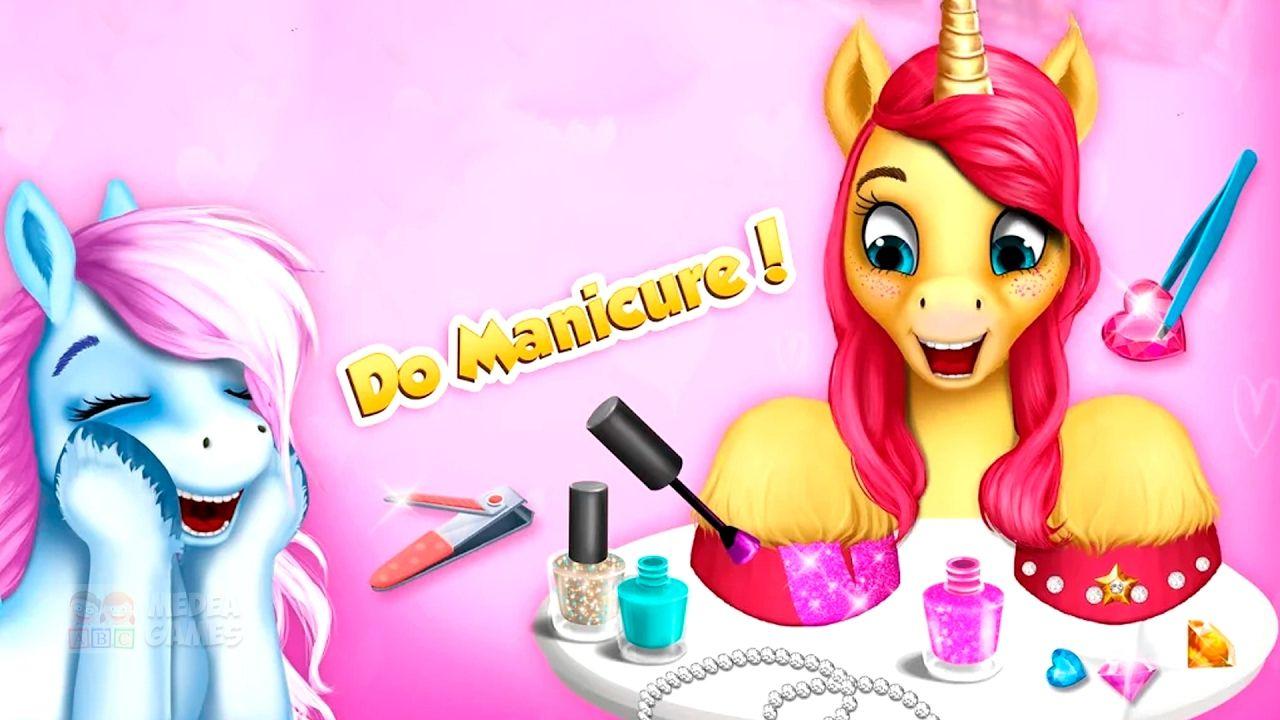 Pony Girls Horse Care Resort   Animal Horse Hair Salon Maker Up