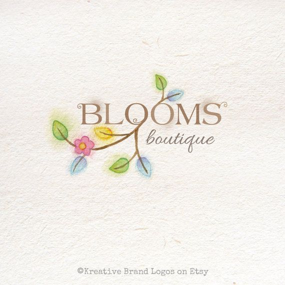 Blooming Branch Premade Customizable Watercolor by KreativeBrand, $16.95
