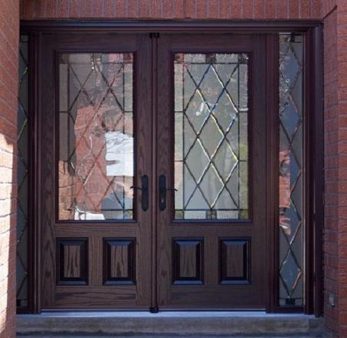 Fiberglass double entry doors home door ideas for Exterior double doors with glass