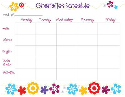 Flower Power Homework Chart  Homework Chart Homework And Flower