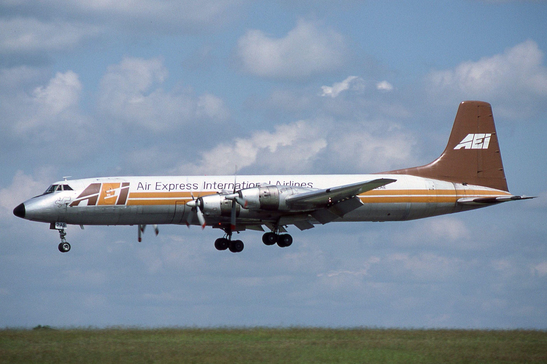 N122AE Canadair CL44D4 Air Express International Fleet