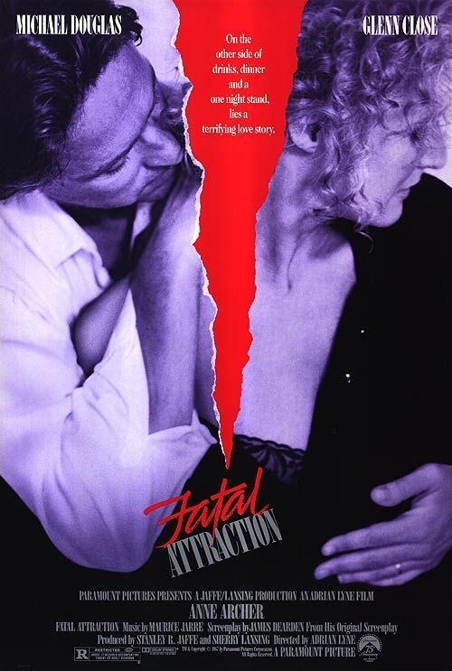 Fatal Attraction With Glenn Close And Michael Douglas Posteres