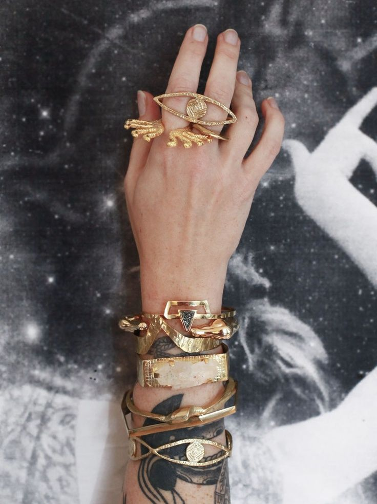 stacks on stacks of fabulous jewelry