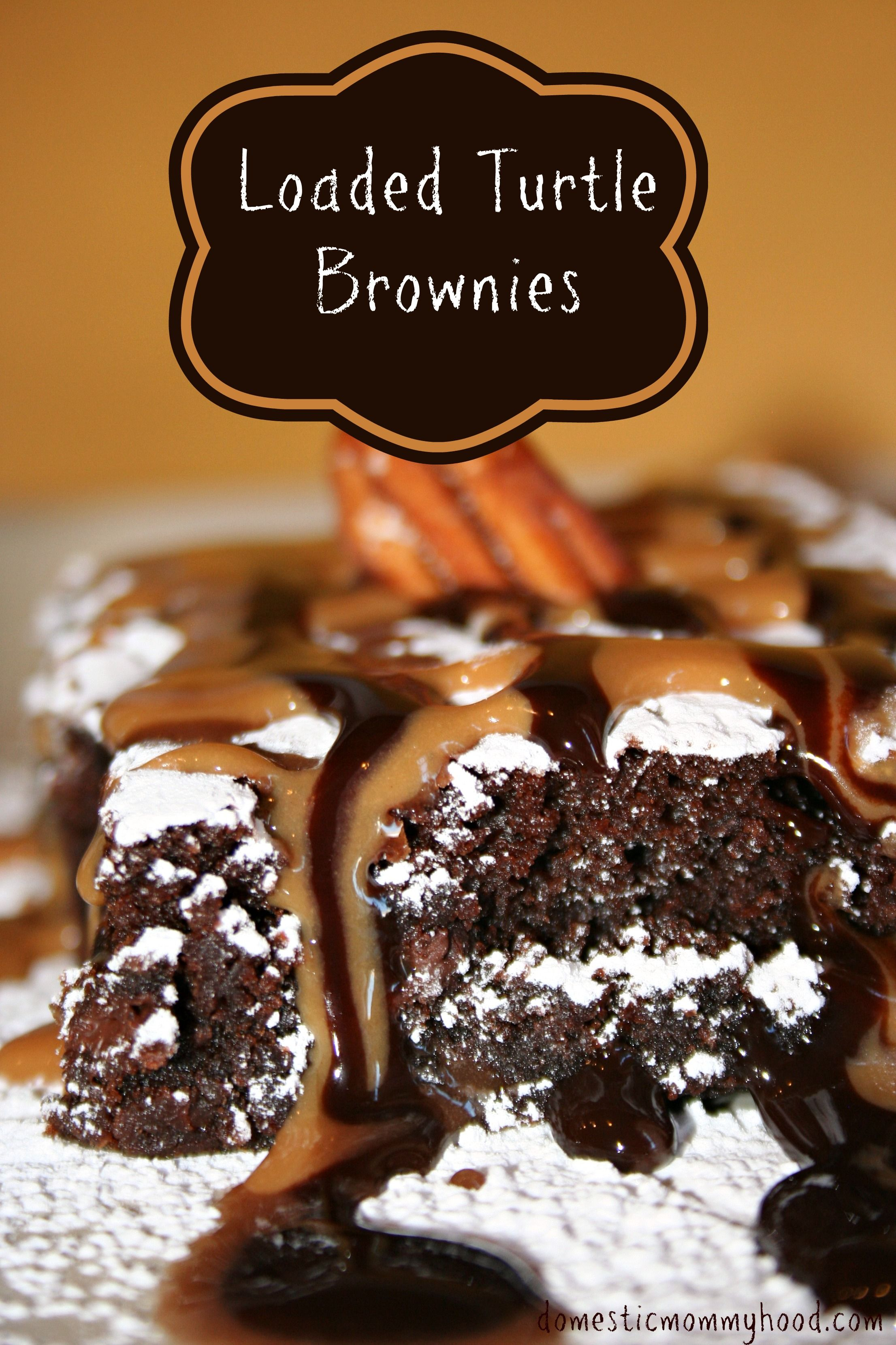 Turtle Brownies. The ultimate brownie!! Easy to do! #turtlelover ...
