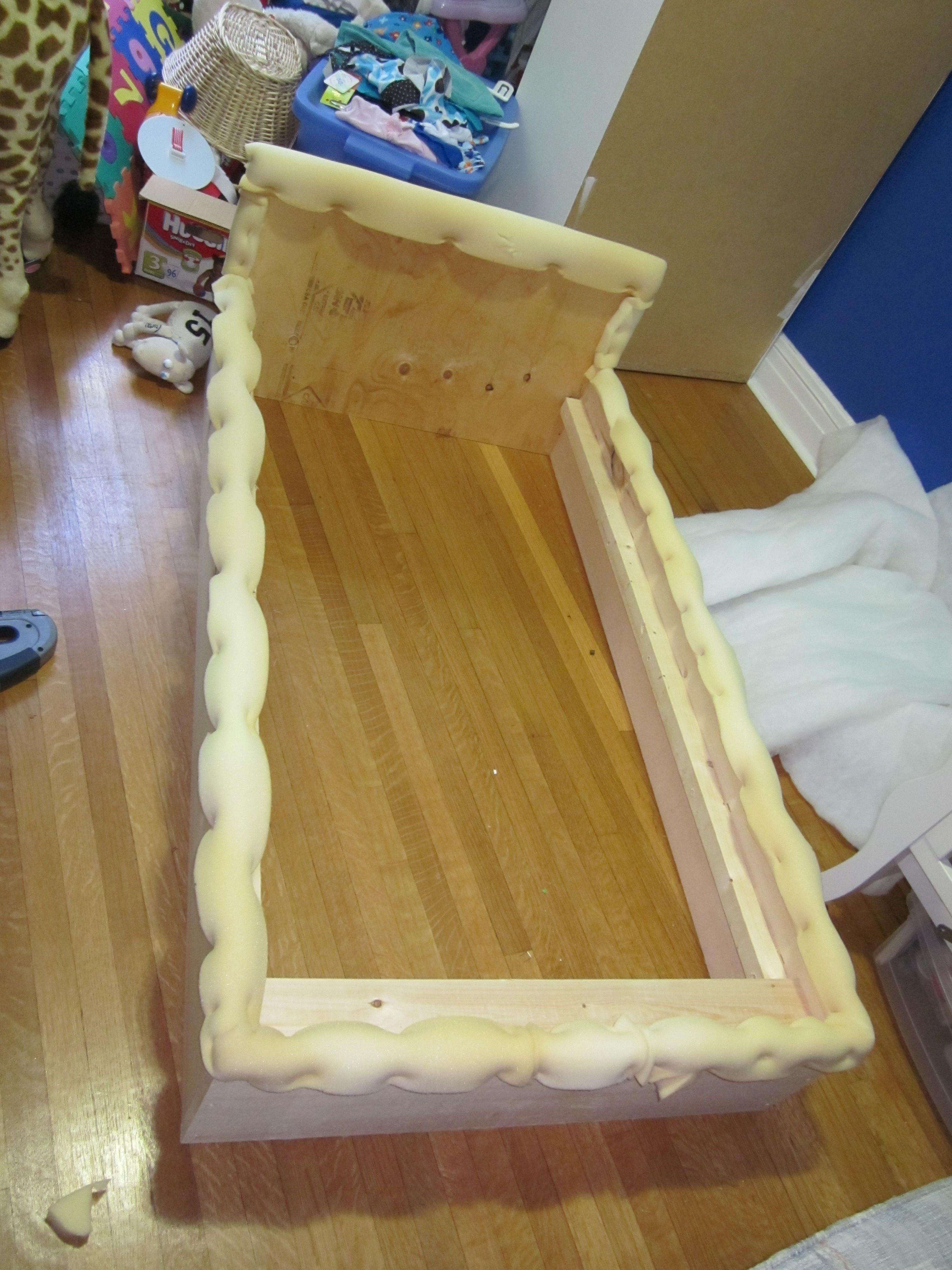 Best Upholstered Toddler Bed Tutorial Diy Toddler Bed 400 x 300