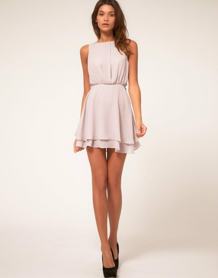 cute light pink dress with black heels...love it but wish it was a ...